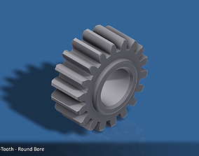 18-Tooth Spur Gear 03 3D printable model