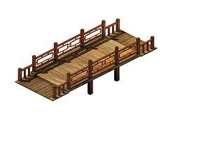 cave Game model - ancient wooden bridge
