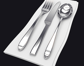 Napkin with Cutlery 3D model