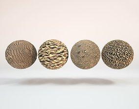 3D 4 Seamless Tileable Beach Sand Textures