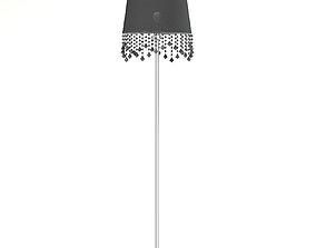 Black and Metal Floor Lamp 3D Model