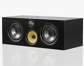 3D Bowers and Wilkins HTM 61 S2 Black Ash