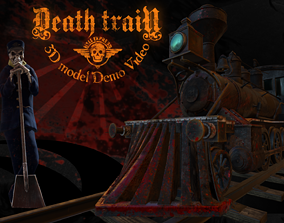 3D asset animated Death Train