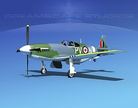North American Mustang X RAF V03 3D