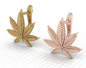 Hemp leaf marijuana leaf 3D printable model