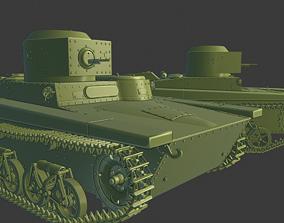3D print model T 37 Tanks