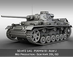 3D PzKpfw III - Ausf J - Mid Production