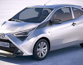 3D model Toyota Aygo 3-door 2019
