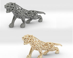 Black Panther 3D print model geometry