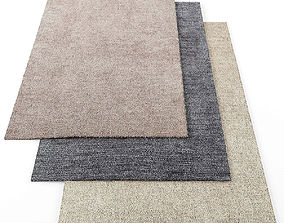 Asiatic tula rugs 3D asset low-poly