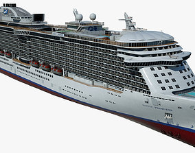 Cruise Ship Majestic Princess 3D