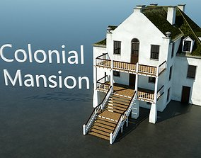Colonial Mansion 3D model