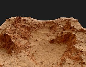 Tileable red rocky detailed canyon with sand 3D model