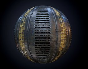Sci-Fi Military Seamless PBR Texture 46 3D