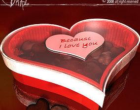 3D chocolates box