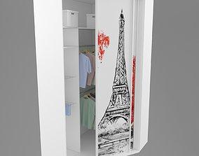 Corner sliding door Partition 3D model