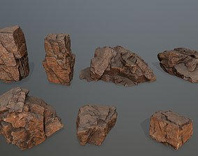 desert rock set 3D model VR / AR ready mosy