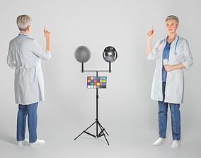 Adult female medical doctor 129 3D asset