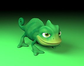 cartoon chameleon 3D model