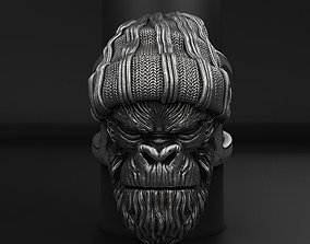 Gangster Monkey vol1 Ring jewelry 3D printable model