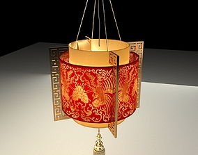 3D Chinese Red Lantern red