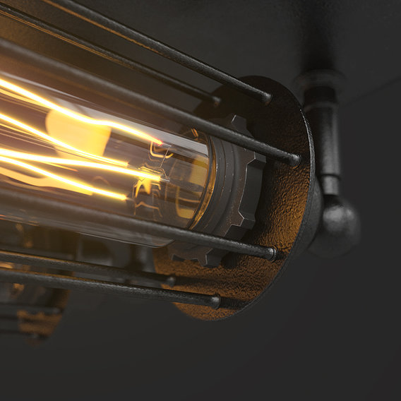 Loft Steampunk Lamps   CGI