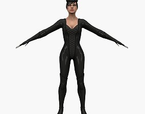 3D asset Cat Woman V2
