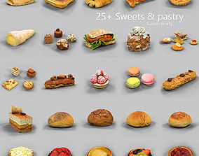 25 Sweets and Pastry Collection 3D model