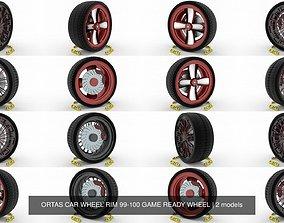 3D ORTAS CAR WHEEL RIM 99-100 GAME READY WHEEL