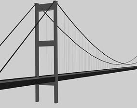Istanbul Bosphorus Bridge Low Poly 3D Model low-poly