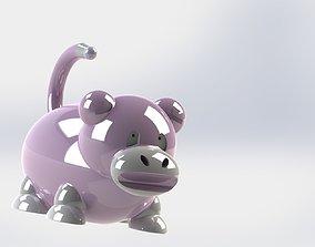 3D model slowpoke meme