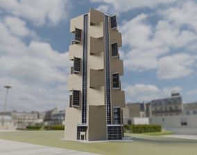 Hexagonal Residential tower 3D