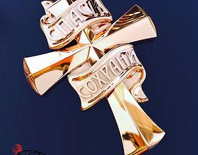 golden cross 3D printable model