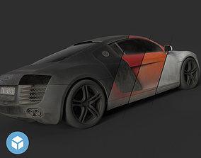 3D asset low-poly Audi r8