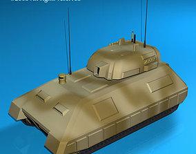 Electronic war Tank future 3D model