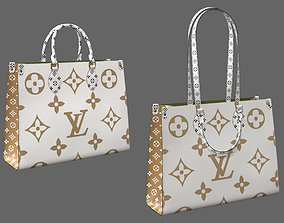 3D model Louis Vuitton Bag Onthego Giant Monogram Gold