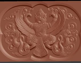 3D print model Relief Garuda Bali bas relief for