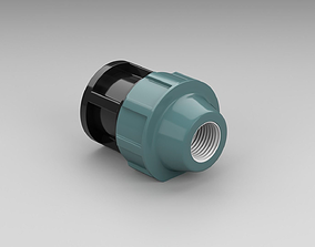 Polypropylene fitting cap 3D