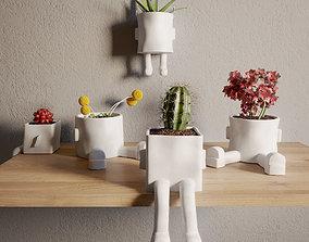 3D model Ceramic hanging planter