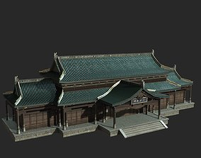 3D model Urban house construction buildings in 1