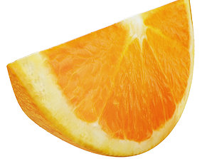 Orange slice 2 3D
