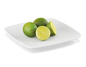 Lime fruits 3D