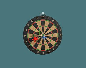 Dartboard 3D model longbow