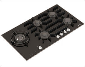 Miele KM 3054 LP Gas Cooktop 3D model