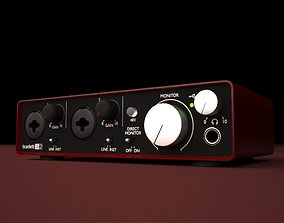 3D model HQ Focusrite Scarlett 2i2 Soundcard
