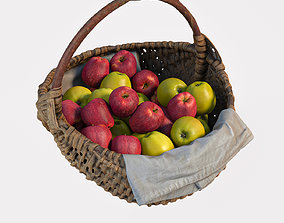 3D basket with apples