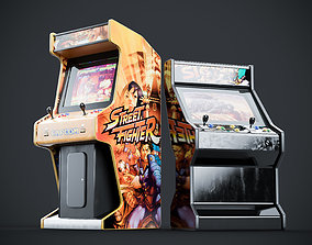Arcade Game Machine Cabinet 3D
