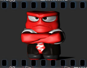 Inside Out Angry 3D print model