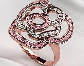 Rose Gold Ring 3D printable model wedding