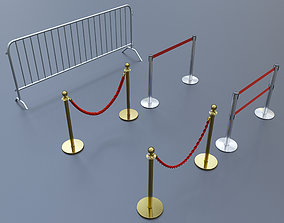 ceremony barrier 3D model